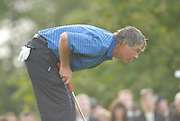 Ryder Cup 206 K Club, Straffin, Ireland...European Ryder Cup team player Darren Clarke on the green of the third hole during  the  morning fourballs session of the second day of the 2006 Ryder Cup at the K Club in Straffan, Co Kildare, in the Republic of Ireland, 23 September 2006...Photo: Eoin Clarke/ Newsfile.