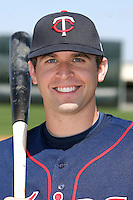 March 18, 2010:  Second Baseman Brian Dozier (16) of the Minnesota Twins organization during Spring Training at the Ft. Myers Training Complex in Ft. Myers, FL.  Photo By Mike Janes/Four Seam Images