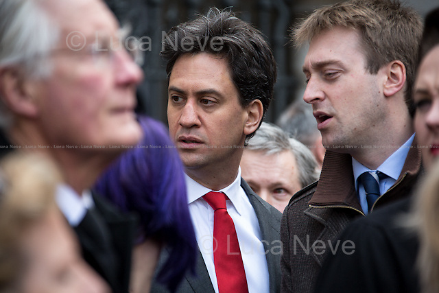 Ed Miliband MP (British Labour Party politician, currently Leader of the Labour Party and Leader of the Opposition; Member of Parliament for Doncaster North; he served in the Cabinet from 2007 to 2010 under Prime Minister Gordon Brown as Minister for the Cabinet Office and Chancellor of the Duchy of Lancaster, and subsequently promoted to Secretary of State for Energy and Climate Change).<br />