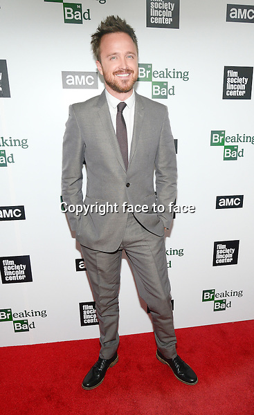 Aaron Paul attend The Film Society Of Lincoln Center And AMC Celebration Of 'Breaking Bad' Final Episodes at The Film Society of Lincoln Center, Walter Reade Theatre in New York, 31.07.2013.<br /> Credit: MediaPunch/face to face<br /> - Germany, Austria, Switzerland, Eastern Europe, Australia, UK, USA, Taiwan, Singapore, China, Malaysia, Thailand, Sweden, Estonia, Latvia and Lithuania rights only -