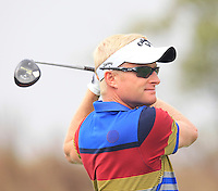 Simon Dyson (ENG) tees off the 11th tee during Friday's Round 2 of the 2014 BMW Masters held at Lake Malaren, Shanghai, China 31st October 2014.<br /> Picture: Eoin Clarke www.golffile.ie