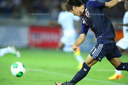 Yoichiro Kakitani (JPN),<br /> SEPTEMBER 10, 2013 - Football / Soccer :<br /> Kirin Challenge Cup 2013 match between Japan 3-1 Ghana at Nissan Stadium in Kanagawa, Japan. (Photo by Kenzaburo Matsuoka/AFLO)