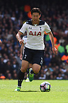 Heung-Min Son Tottenham during the English Premier League match at the White Hart Lane Stadium, London. Picture date: April 15th, 2017.Pic credit should read: Chris Dean/Sportimage