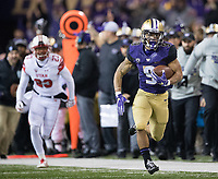 Myles Gaskin was off to the races after making a leaping catch along the sidelines.