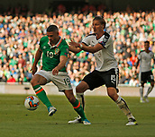 June 11th 2017, Dublin, Republic Ireland; 2018 World Cup qualifier, Republic of Ireland versus Austria; Jonathan Walters (Republic of Ireland) holds off a challenge from Sebastian Prodl (Austria)