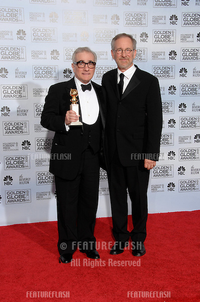 MARTIN SCORSESE (left) & STEVEN SPIELBERG at the 64th Annual Golden Globe Awards at the Beverly Hilton Hotel..January 15, 2007 Beverly Hills, CA.Picture: Paul Smith / Featureflash