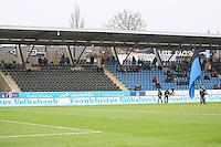 Kaum Fans beim Derby - 17.12.2016: FSV Frankfurt vs. SV Wehen-Wiesbaden, Frankfurter Volksbank Stadion