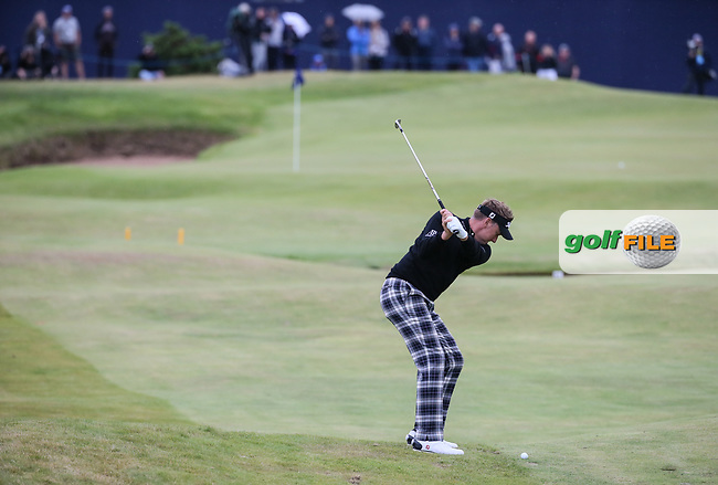 Ian Poulter (ENG) plays to the last during Round Two of the Aberdeen Asset Management Scottish Open 2017, played at Dundonald Links, Troon, Ayrshire, Scotland.  14/07/2017. Picture: David Lloyd   Golffile.<br /> <br /> Images must display mandatory copyright credit - (Copyright: David Lloyd   Golffile).