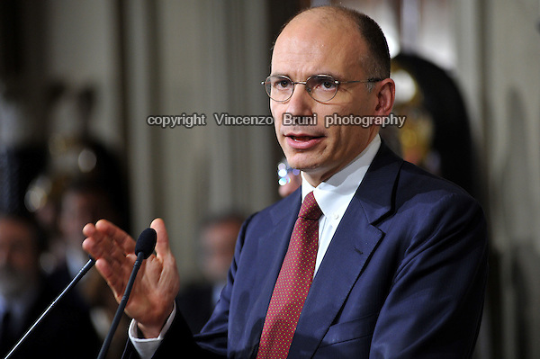 Enrico Letta (Democrat Party), Prime Minister of Italy from April 2013  to February 2014.