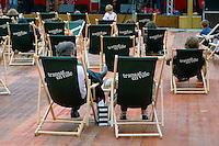 Les Tombees de la Nuit animent le centre-ville de Rennes au mois de juillet.Transat en ville