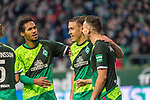 10.02.2019, Weser Stadion, Bremen, GER, 1.FBL, Werder Bremen vs FC Augsburg, <br /> <br /> DFL REGULATIONS PROHIBIT ANY USE OF PHOTOGRAPHS AS IMAGE SEQUENCES AND/OR QUASI-VIDEO.<br /> <br />  im Bild<br /> <br /> jubel tor 4:0 Kevin Möhwald / Moehwald (Werder Bremen #06)<br /> Kevin Möhwald / Moehwald (Werder Bremen #06)<br /> Max Kruse (Werder Bremen #10)<br /> Theodor Gebre Selassie (Werder Bremen #23)<br /> Foto © nordphoto / Kokenge
