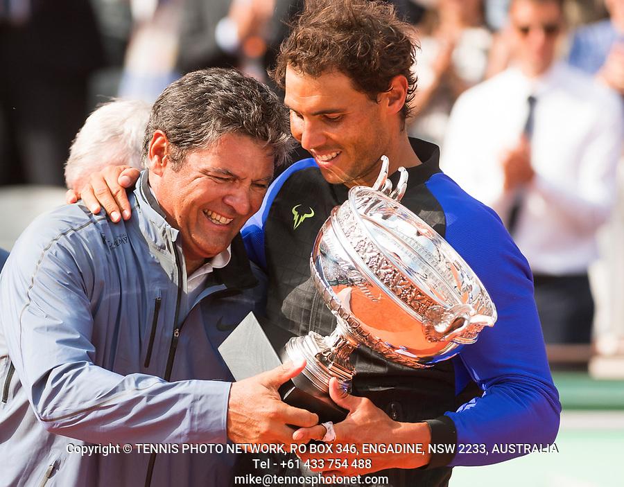 RAFAEL NADAL (ESP), TONI NADAL<br /> <br /> TENNIS - FRENCH OPEN - ROLAND GARROS - ATP - WTA - ITF - GRAND SLAM - CHAMPIONSHIPS - PARIS - FRANCE - 2017  <br /> <br /> <br /> <br /> &copy; TENNIS PHOTO NETWORK