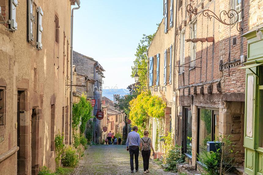France, Tarn, Cordes sur Ciel, medieval village, Grand Rue Raimond VII // France, Tarn (81), Cordes-sur-Ciel, Grand Rue Raimond VII