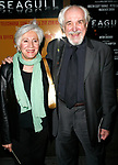 Olympia Dukakis & Husband Louis Zorich arriving for the Opening Night Performance for THE SEAGULL at the Walter Kerr Theatre in New York City.<br />