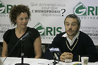 Montreal (Qc) Canada - sept 22 2010- GRIS launch its new campgain against homophobia : Que donneriez-vous pour que líhomophobie disparaisse? In photo : ,Macha Limonchik , Vincent Bolduc.