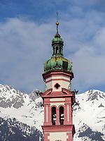 Servitenkirche von 1614, Maria-Theresien-Straße, Innsbruck, Tirol, Österreich, Europa<br /> Servite church from 1614, Maria-Theresien-St., Innsbruck, Tyrol, Austria, Europe