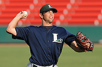 June 19, 2009: RHP Brian Wabick (36) of the Lexington Legends, Class A affiliate of the Houston Astros, prior to a game against the Greenville Drive at Fluor Field at the West End in Greenville, S.C. Photo by: Tom Priddy/Four Seam Images
