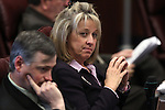 Nevada Sen. Barbara Cegavske, R-Las Vegas, listens in committee on Friday, April 22, 2011, at the Legislature in Carson City, Nev. Sen. James Settelmeyer, R-Minden, is at left..Photo by Cathleen Allison