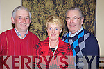 Jerry O'Rourke from Abbeyfeale, Christina Brouder from Athea and Tralee man Pat O'Riordan pictured last Friday night for a special charity ceili in aid of The Chernobyl Children's Project in the Devon Inn, Templeglantine..