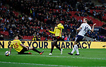 Harry Kane of Tottenham scores the second goal during the premier league match at Wembley Stadium, London. Picture date 30th April 2018. Picture credit should read: David Klein/Sportimage