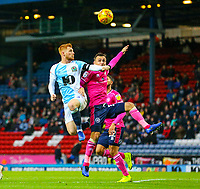 Blackburn Rovers' Harrison Reed battles with Queens Park Rangers' Josh Scowen<br /> <br /> Photographer Alex Dodd/CameraSport<br /> <br /> The EFL Sky Bet Championship - Blackburn Rovers v Queens Park Rangers - Saturday 3rd November 2018 - Ewood Park - Blackburn<br /> <br /> World Copyright © 2018 CameraSport. All rights reserved. 43 Linden Ave. Countesthorpe. Leicester. England. LE8 5PG - Tel: +44 (0) 116 277 4147 - admin@camerasport.com - www.camerasport.com