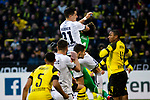 09.02.2019, Signal Iduna Park, Dortmund, GER, 1.FBL, Borussia Dortmund vs TSG 1899 Hoffenheim, DFL REGULATIONS PROHIBIT ANY USE OF PHOTOGRAPHS AS IMAGE SEQUENCES AND/OR QUASI-VIDEO<br /> <br /> im Bild | picture shows:<br /> Foulspiel von Benjamin Huebner (Hoffenheim #21) an Roman Buerki (Borussia Dortmund #1),  <br /> <br /> Foto © nordphoto / Rauch