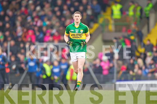 Jonathan Lyne Kerry in action against \\ Cork in the National Football League at Austin Stack park, Tralee on Sunday.