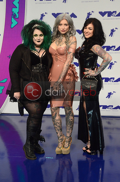 Ink Master Angels<br /> at the 2017 MTV Video Music Awards, The Forum, Inglewood, CA 08-27-17<br /> David Edwards/DailyCeleb.com 818-249-4998