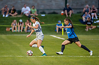 Kansas City, MO - Saturday July 22, 2017: Ashley Hatch, Brittany Taylor during a regular season National Women's Soccer League (NWSL) match between FC Kansas City and the North Carolina Courage at Children's Mercy Victory Field.