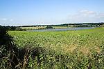 Suffolk farming landscape scenery, East Anglia, England. View of River Deben near Methersgate.