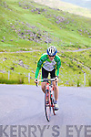 Eoin Ryan cycling to the top of Ballaghisheen, in preparing for the Credit Union Iveragh 200.  Eoin completed 5 circuits of the Ring of Kerry last weekend and helped raise funds for Kerry Parents & Friends Valentia.