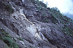 Mudslide at the Tibet-Nepal road, 1987