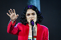 Shanghai, CHINA-11th April 2018: British singer Jessie J performs at a  promotional event in Shanghai.