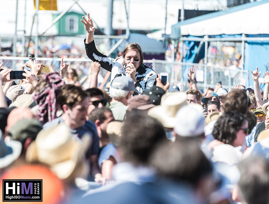 Arcade Fire performs at Jazz Fest 2014 in New Orleans, LA on Day 7.