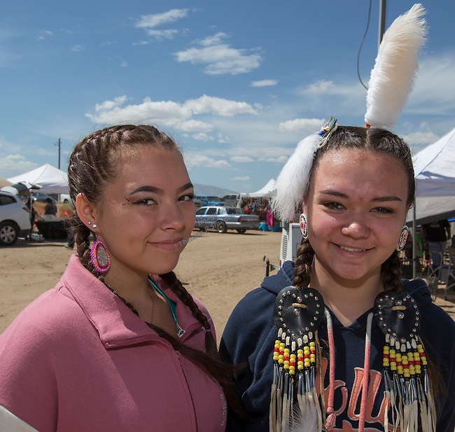 Alicia Singleton and Andrea Lathrop at the Numaga Indian Days Pow Wow in Hungry Valley on Saturday, Sept. 3, 2016.