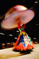 Whirling dervish dancer at bedowin show, Cairo, Egypt