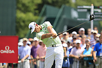 James Hahn (USA) tees off the 1st tee to start Saturday's Round 3 of the 2017 PGA Championship held at Quail Hollow Golf Club, Charlotte, North Carolina, USA. 12th August 2017.<br /> Picture: Eoin Clarke | Golffile<br /> <br /> <br /> All photos usage must carry mandatory copyright credit (&copy; Golffile | Eoin Clarke)