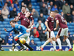 Andy Halliday heavily marked by Hearts