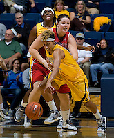 Layshia Clarendon of California steals the ball during the game against St. Mary's at Haas Pavilion in Berkeley, California on November 15th, 2012.  California defeated St. Mary's, 89-41.