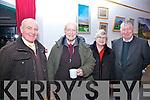 Pictured at the exhibition opening celebrating the mountain life of the Inny Valley as part of the Éigse na Brídeoíge festival were l-r; Micheál Ó Leidhin, Professor John McCarthy, Catherine McCarthy & Eamon Langford.