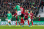 02.11.2019, wohninvest WESERSTADION, Bremen, GER, 1.FBL, Werder Bremen vs SC Freiburg<br /> <br /> DFL REGULATIONS PROHIBIT ANY USE OF PHOTOGRAPHS AS IMAGE SEQUENCES AND/OR QUASI-VIDEO.<br /> <br /> im Bild / picture shows<br /> Tor 2:1, <br /> Theodor Gebre Selassie (Werder Bremen #23) mit Kopfball zum 2:1, <br /> Christian Günter / Guenter (SC Freiburg #30), <br /> <br /> Foto © nordphoto / Ewert