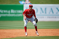 Lakewood BlueClaws third baseman Dalton Guthrie (5) during a game against the Greensboro Grasshoppers on June 10, 2018 at First National Bank Field in Greensboro, North Carolina.  Lakewood defeated Greensboro 2-0.  (Mike Janes/Four Seam Images)