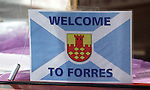 Forres town centre ready for the visit of Rangers.