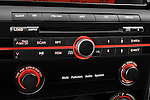 Stereo audio system close up detail view of a 2008 Mazda Speed 3