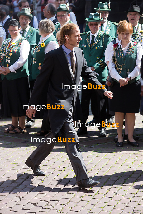 Mariage du Prince Ernst junior de Hanovre et de Ekaterina Malysheva &agrave; l'&eacute;glise Markkirche &agrave; Hanovre.<br /> Allemagne, Hanovre, 8 juillet 2017.<br /> Wedding of Prince Ernst Junior of Hanover and Ekaterina Malysheva at the Markkirche church in Hanover.<br /> Germany, Hanover, 8 july 2017<br /> Pic :  Prince Andrea Casiraghi