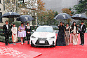 (Second from Left) Novelist Sayaka Murata, actor Naomi Watanabe, singer Mitsuki Takahata, actor Yoshino Kimura, actor Sakura Ando and Rio Olympic 200-meter breaststroke champion Rie Kaneto pose for the cameras during the red carpet for the Vogue Japan Women of the Year 2016 Awards on November 24, 2016, Tokyo, Japan. Every year the fashion magazine awards successful women from various disciplines. This year Tokyo's first female Governor Yuriko Koike sent a video message in gratitude for her inclusion on the awards list. (Photo by Rodrigo Reyes Marin/AFLO)