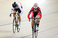 Sami Donnelly (R) of Canterbury and Eva Parkinson of Waikato BOP compete in the U17 Girls Sprint semi final at the Age Group Track National Championships, Avantidrome, Home of Cycling, Cambridge, New Zealand, Saturday, March 18, 2017. Mandatory Credit: © Dianne Manson/CyclingNZ  **NO ARCHIVING**