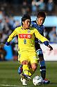 (L to R) Yuji Funayama (Montedio), Yusuke Tanaka (Frontale), MARCH 5, 2011 - Football : 2011 J.LEAGUE Division 1 between Kawasaki Frontale 2-0 Montedio Yamagata at Kawasaki Todoroki Stadium, Kanagawa, Japan. (Photo by YUTAKA/AFLO SPORT) [1040]