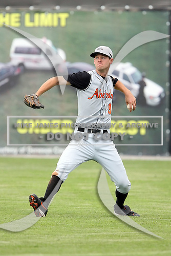 July 14th 2008:  Jacob Julius of the Aberdeen Ironbirds, Class-A affiliate of the Baltimore Orioles, during a game at Dwyer Stadium in Batavia, NY.  Photo by:  Mike Janes/Four Seam Images