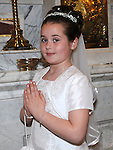 Lauren Drowney who received First Holy Communion in St. Cianan's church Duleek. Photo: Colin Bell/pressphotos.ie
